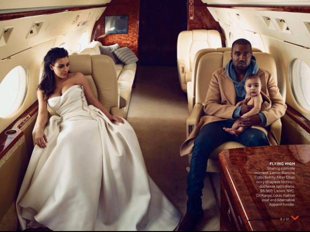 Kanye West & Kim Kardashian Vogue photo shoot w/ North West